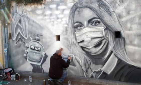 دیوار نگاره های کرونایی از سراسر جهان