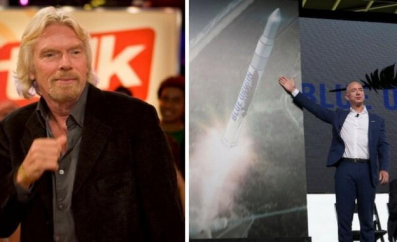 """رقابت بر سر نخستین گردشگر فضایی! / """"سر ریچارد برانسون"""" یا """"جف بزوس""""؟"""