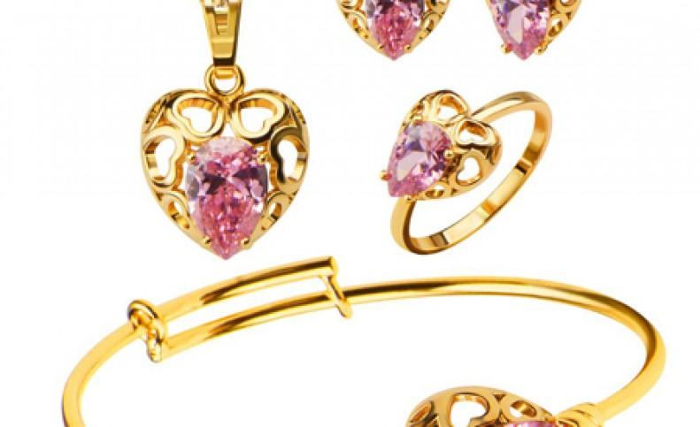 مدل های نیم ست طلا و جواهر