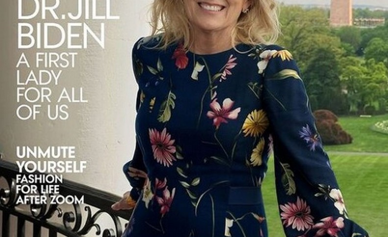 (عکس) تمسخر عجیب تصویر همسر بایدن روی مجله مد!