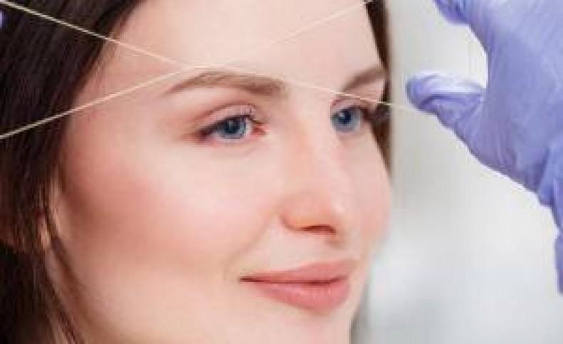 روشی خاص برای بند انداختن صورت خود در خانه