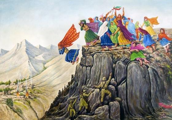 دختری که اسطوره افغان ها شد/ شیرین تن به اسارت نداد و خود را از کوه پایین انداخت