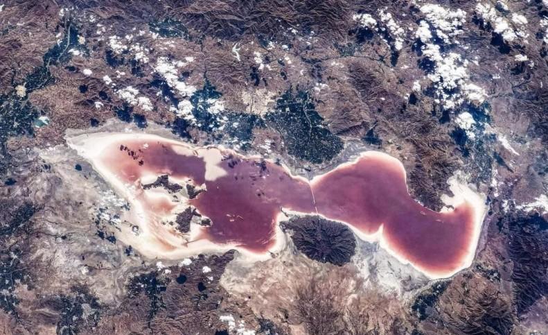 تصویر جدید و تاسف آور ایستگاه فضایی چین از دریاچه ارومیه