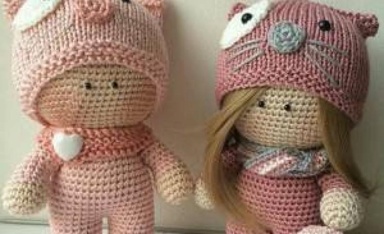 عروسک های بافتنی فانتزی با دو میل و قلاب + تصاویر